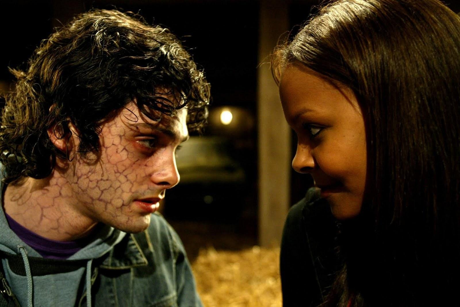 A zombified David Leon and his love interest Samantha Mumba in Boy Eats Girl (2005)