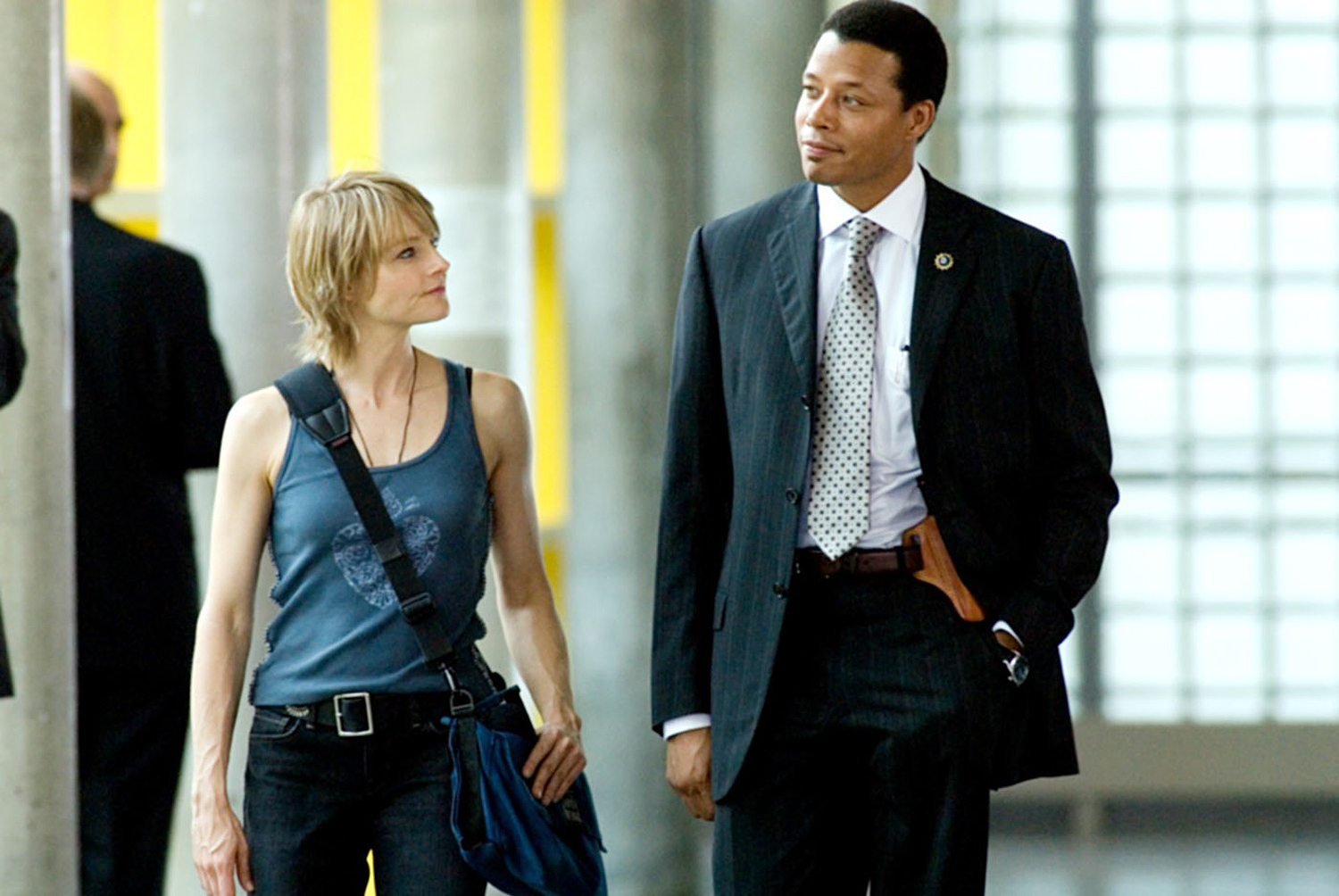 Jodie Foster and police detective Terrence Howard in The Brave One (2007)