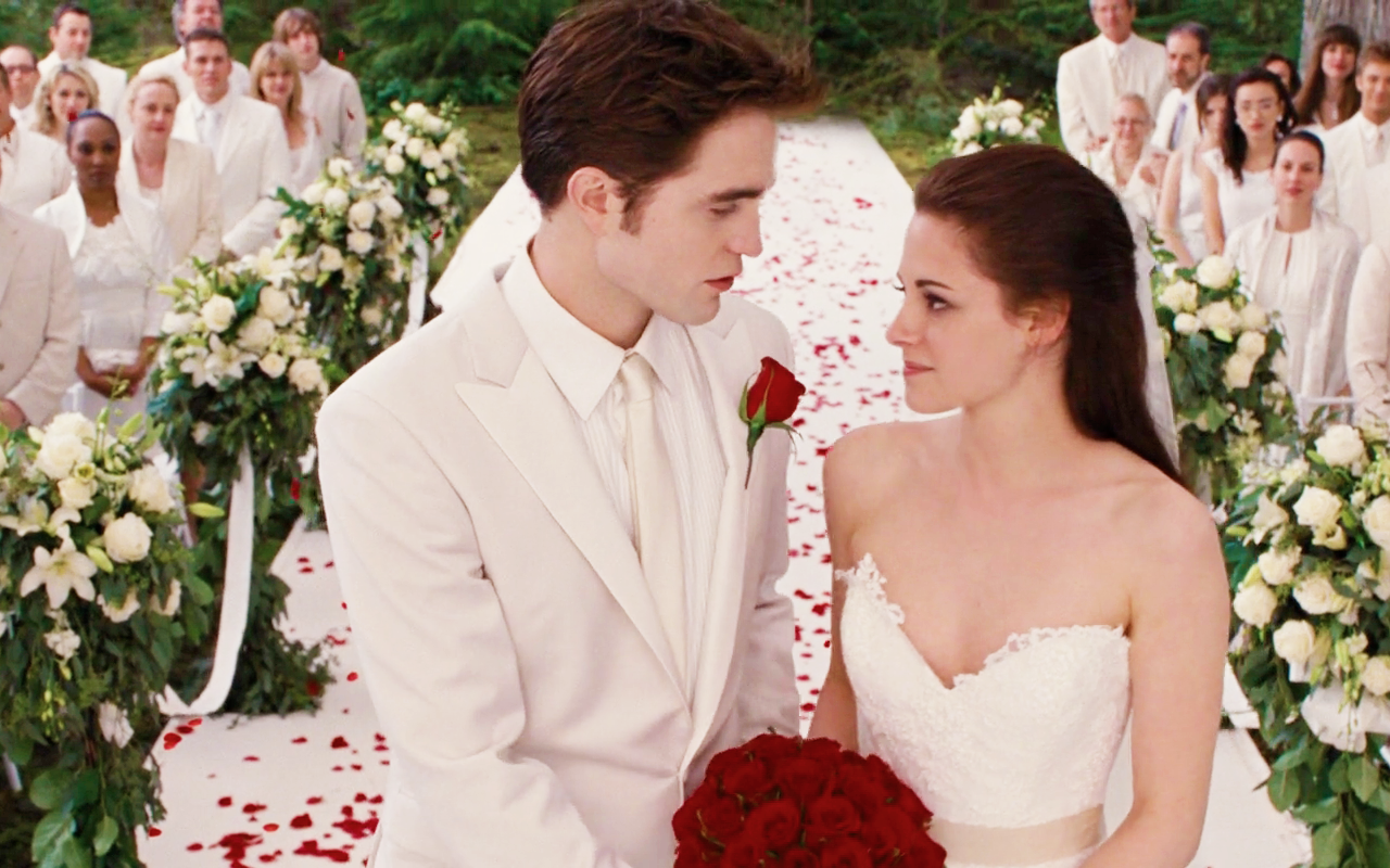 Robert Pattinson and Kirsten Stewart exchanging vows during the wedding in Breaking Dawn Part 1 (2011)