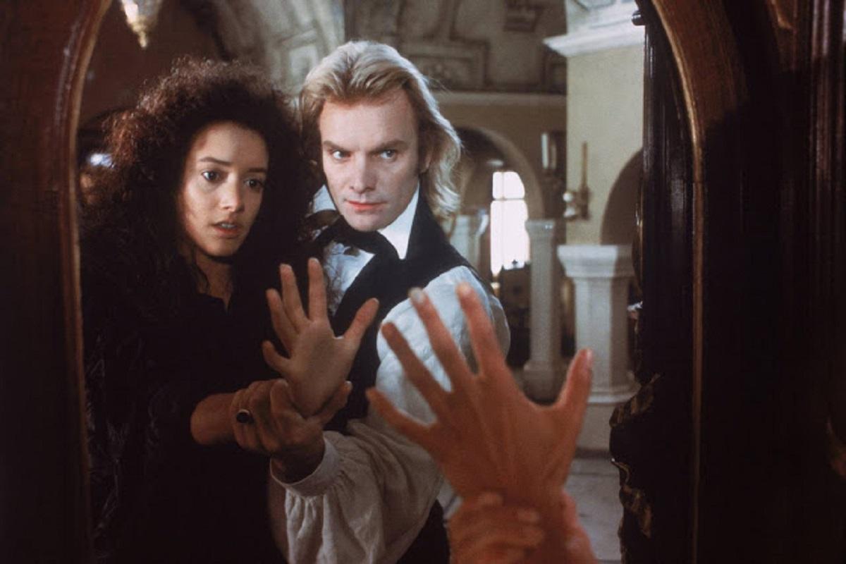 Baron Frankenstein (Sting) and his creation Eva (Jennifer Beals) in The Bride (1985)