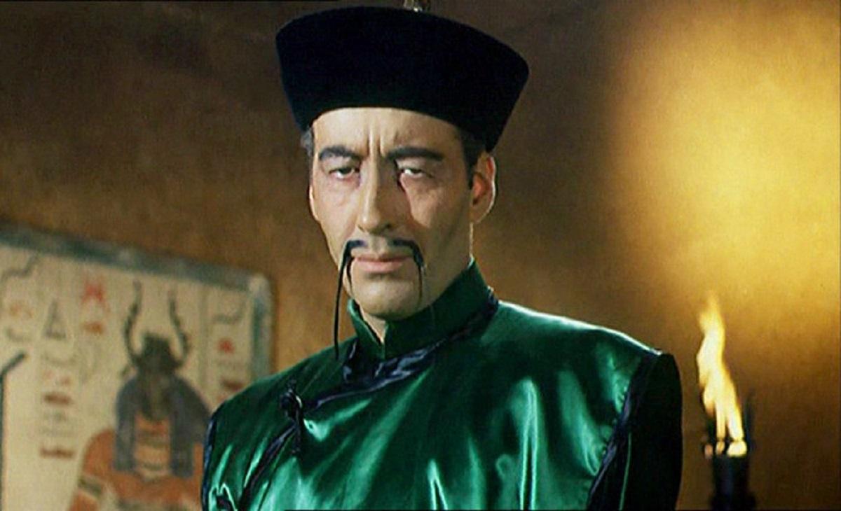 Fu Manchu (Christopher Lee) in The Brides of Fu Manchu (1966)