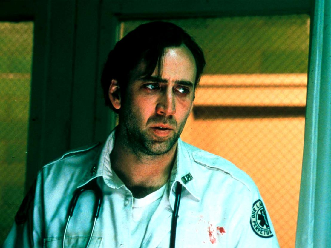 Nicolas Cage as ambulance driver Frank Pierce in Bringing Out the Dead (1999)