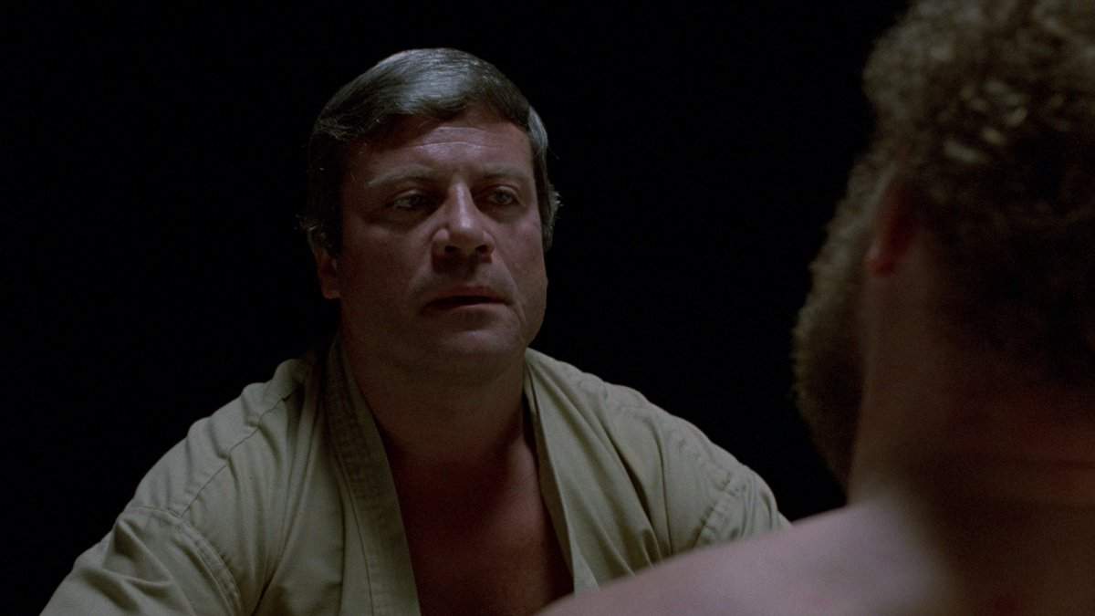 Psychologist Dr Hal Raglan (Oliver Reed) with Gary McKeehan in The Brood (1979)