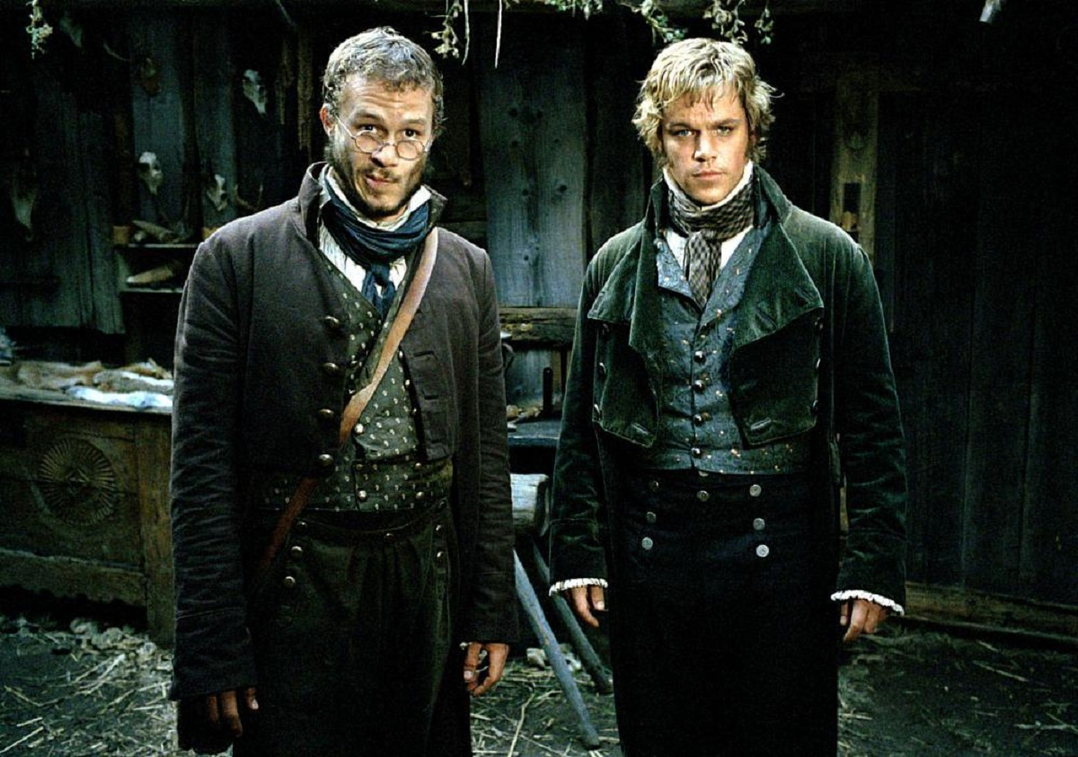 The Brothers Grimm - Jacob (Heath Ledger) and Wilhelm (Matt Damon) in The Brothers Grimm (2005)