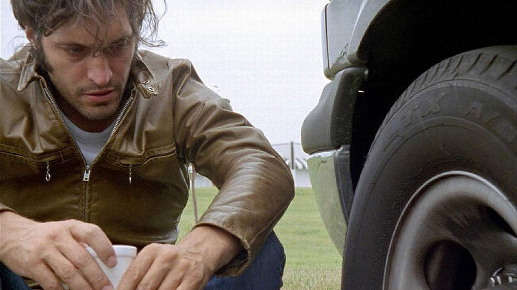 Vincent Gallo, the film's director, writer, producer, photographer and star in The Brown Bunny (2003)