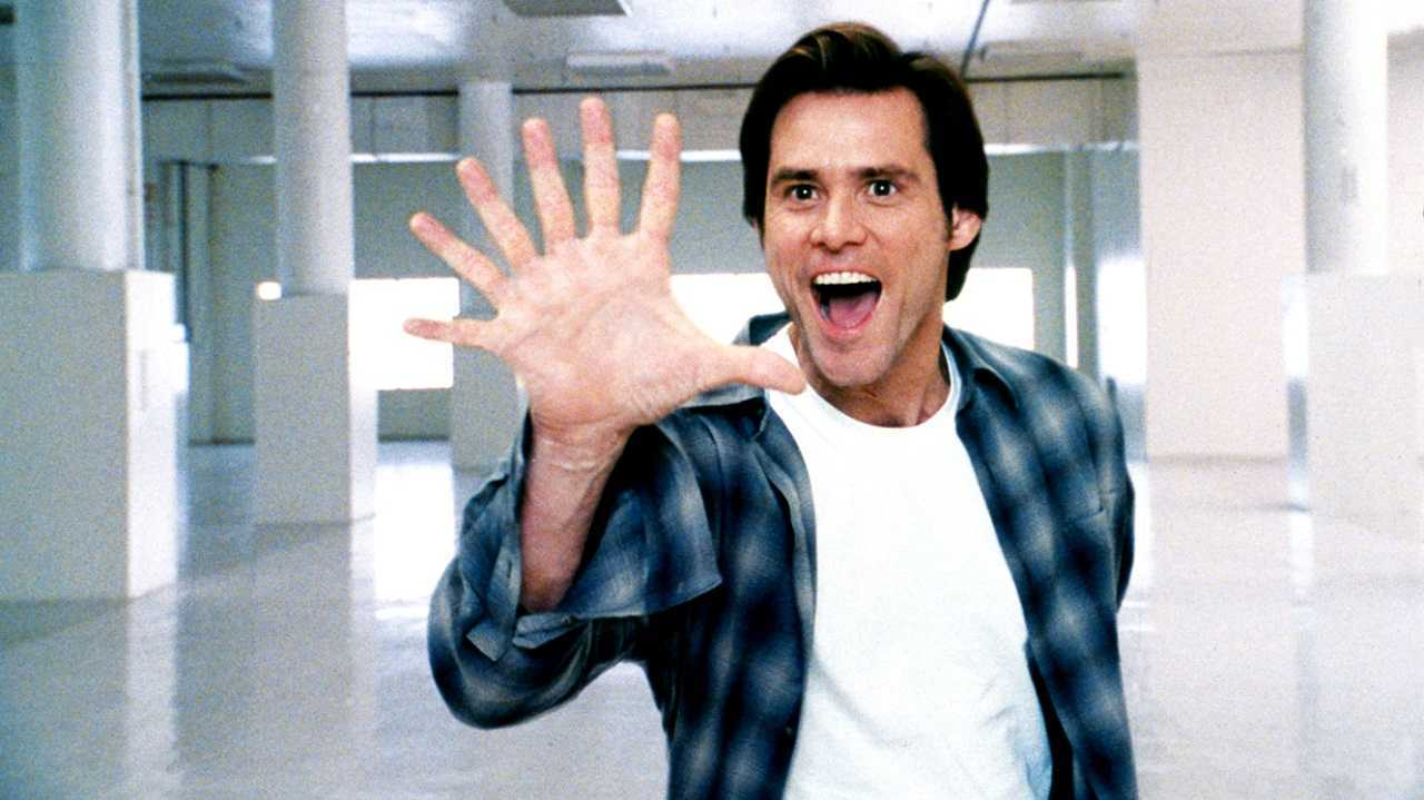 Bruce Nolan (Jim Carrey) gains godlike powers in Bruce Almighty (2003)