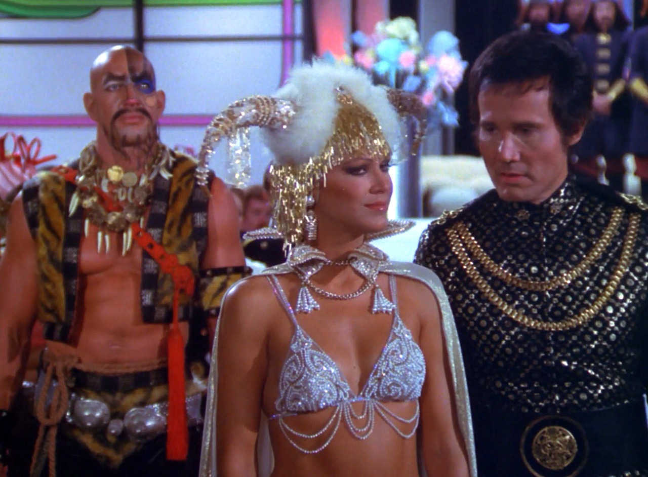 Princess Ardala (Pamela Hensley) and Kane (Henry Silva) in Buck Rogers in the 25th Century (1979)