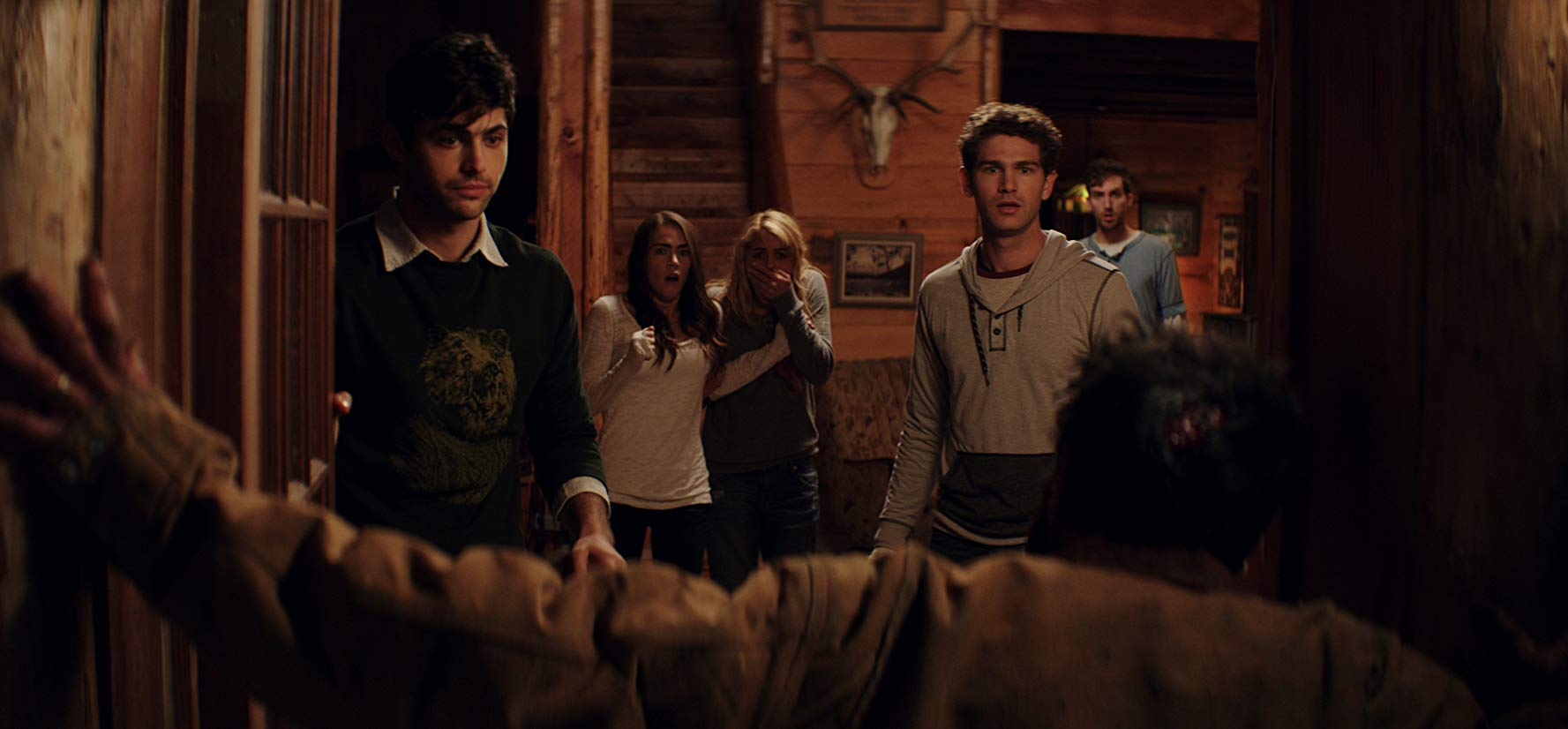 Matthew Daddario, Nadine Crocker, Gage Golightly, Samuel Davis and Dustin Ingram in Cabin Fever (2016)