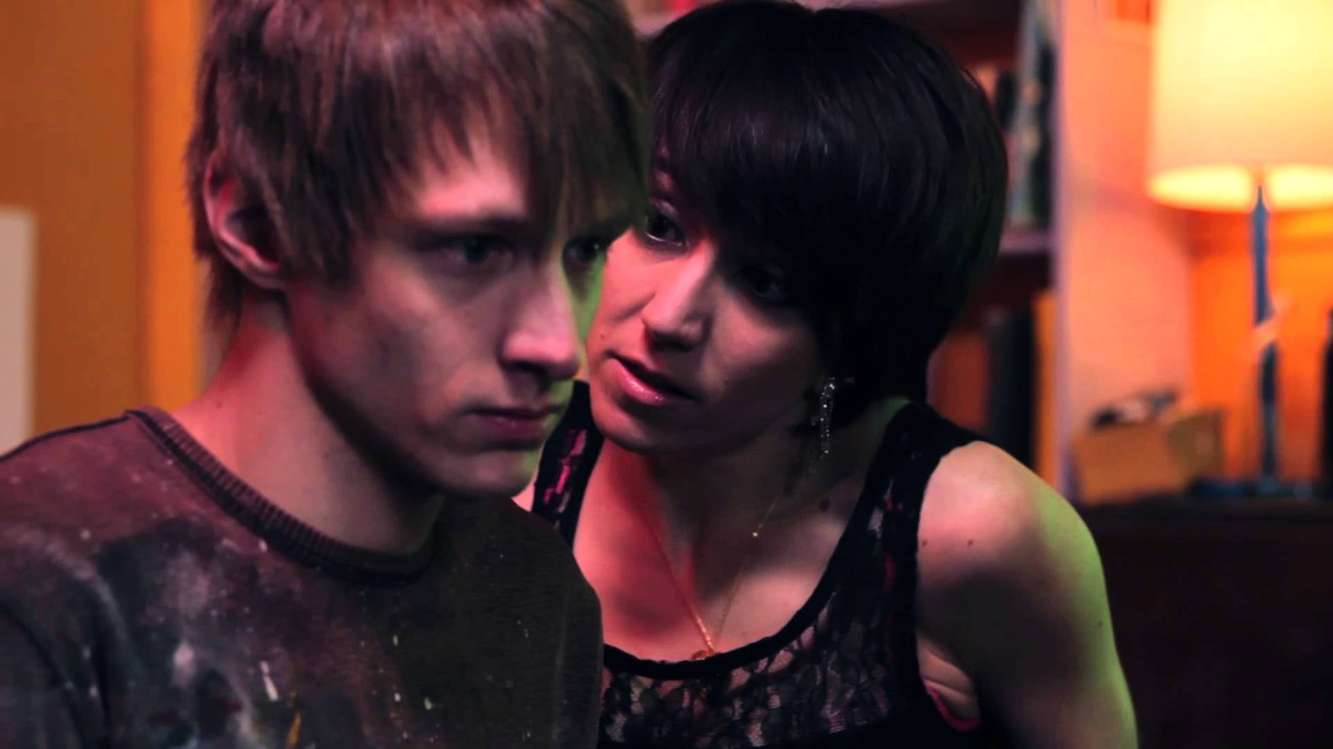 Artist Carter Wilcox (David Phillip Carollo) and call girl Riley Whately (Melissa O'Brien) in Call Girl of Cthulhu (2014)