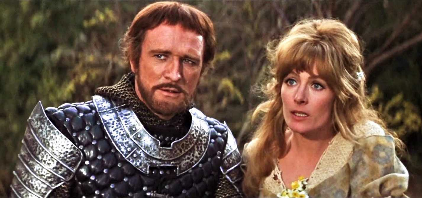 King Arthur (Richard Harris) and Guenevere (Vanessa Redgrave) in Camelot (1967)