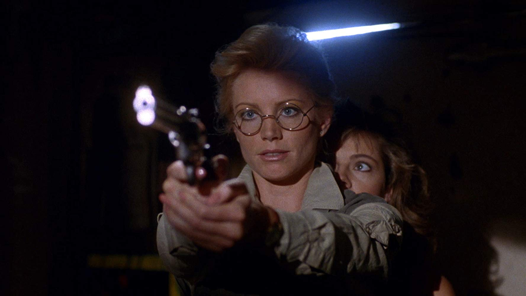Shannon Tweed as Dr Margo Hunt in Cannibal Women in the Avocado Jungle of Death (1989)