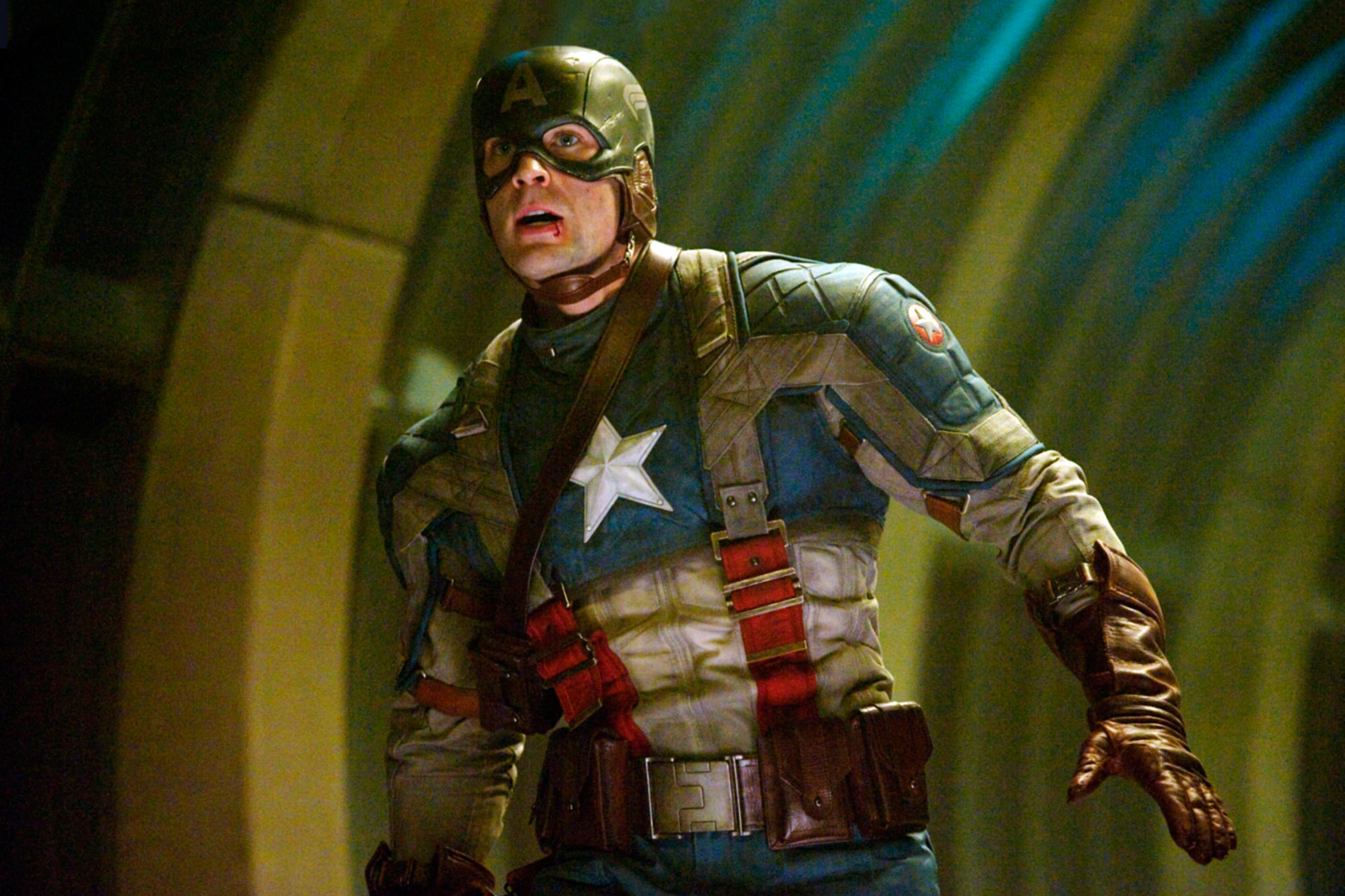Chris Evans as Captain America: The First Avenger (2011)