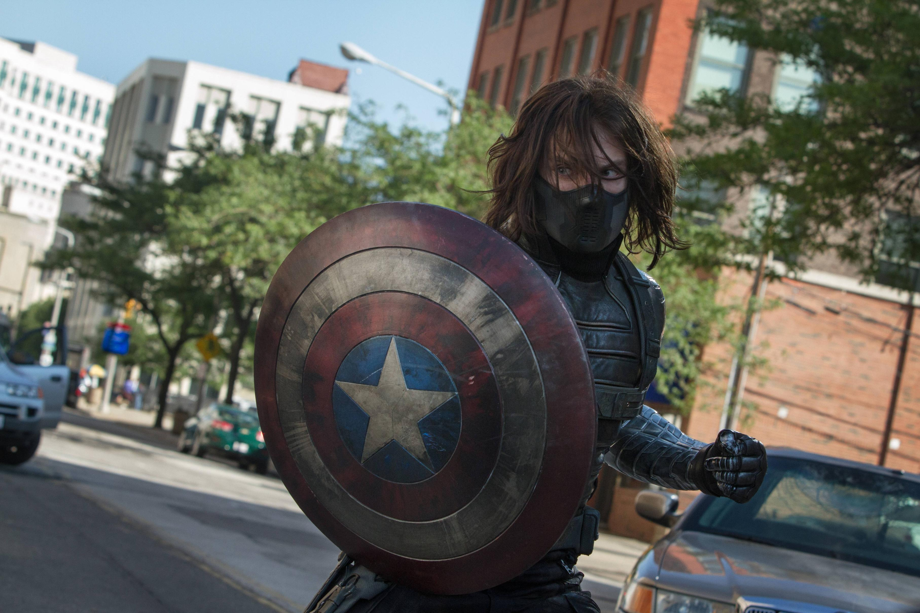 Sebastian Stan as Bucky Barnes in Captain America: The Winter Soldier (2014)