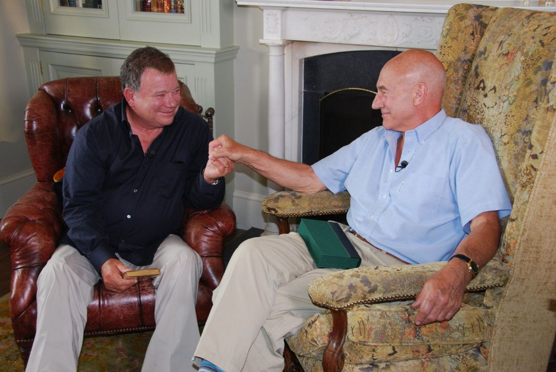 William Shatner, and Patrick Stewart sit down to talk in The Captains (2011)