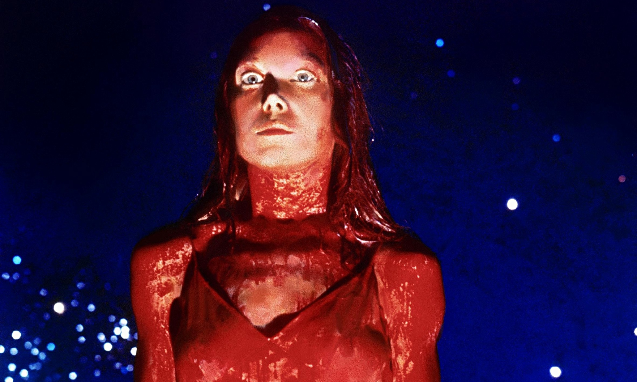 Sissy Spacek as a bloody Carrie