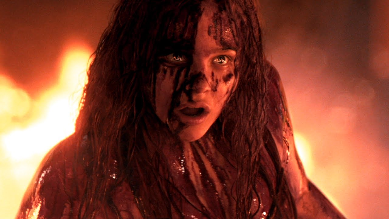 A bloodied Chloë Grace Moretz at the prom climax in Carrie (2013)