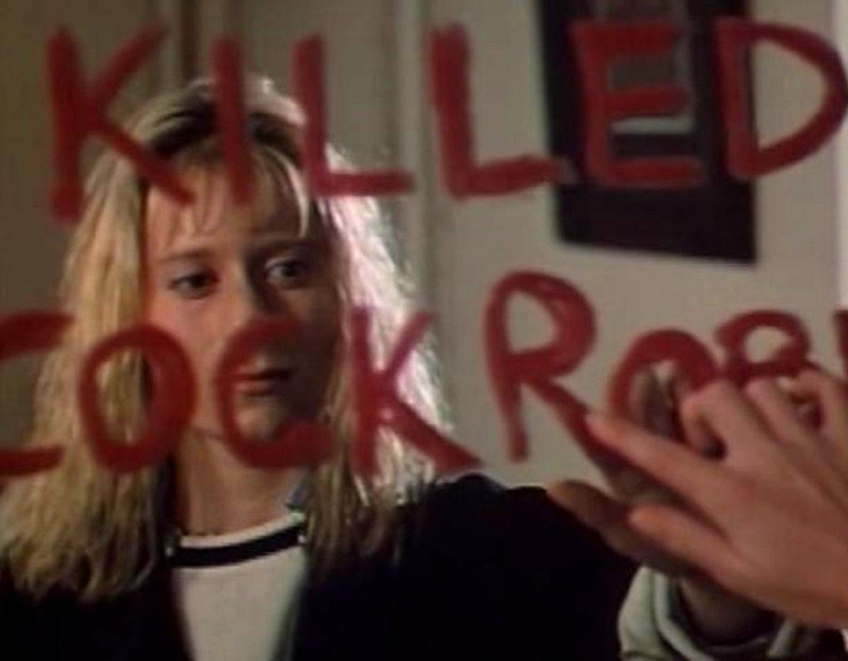 Cassandra (Tessa Humphries) receives clairvoyant visions in Cassandra (1987)