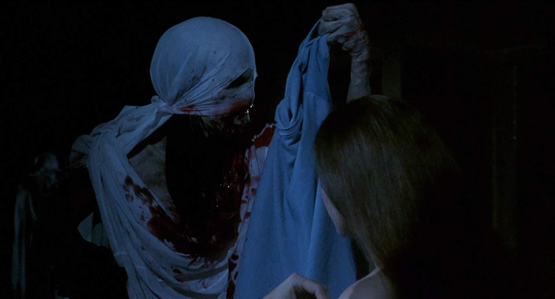 Jessica Dollarhide encounters the creature in Castle Freak (1995)