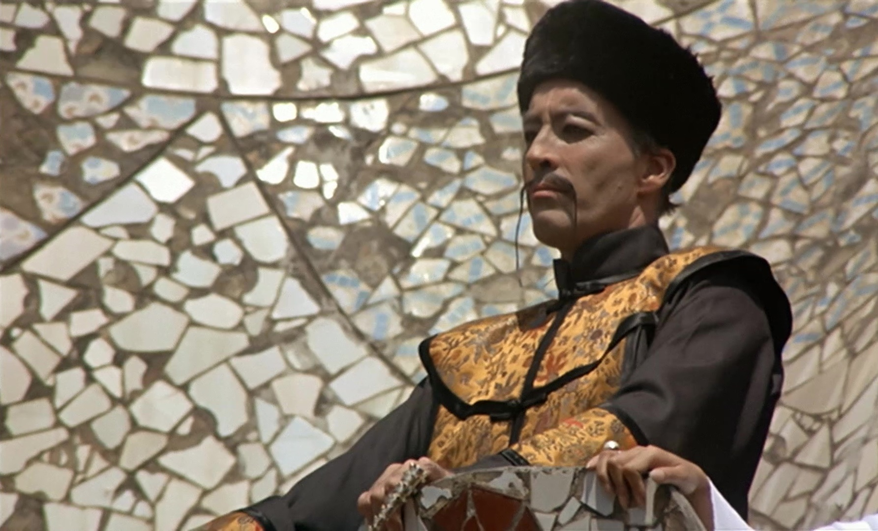 Christopher Lee in The Castle of Fu Manchu (1969)