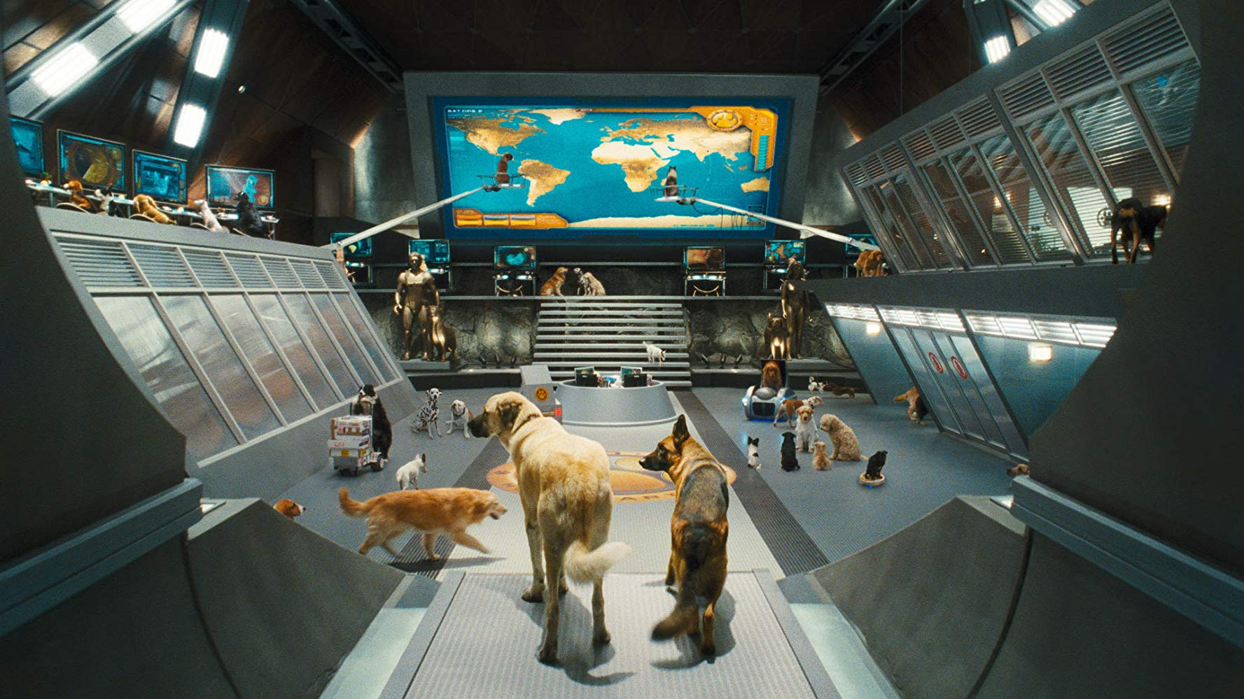 The MEOWS command centre in Cats & Dogs: The Revenge of Kitty Galore (2010)