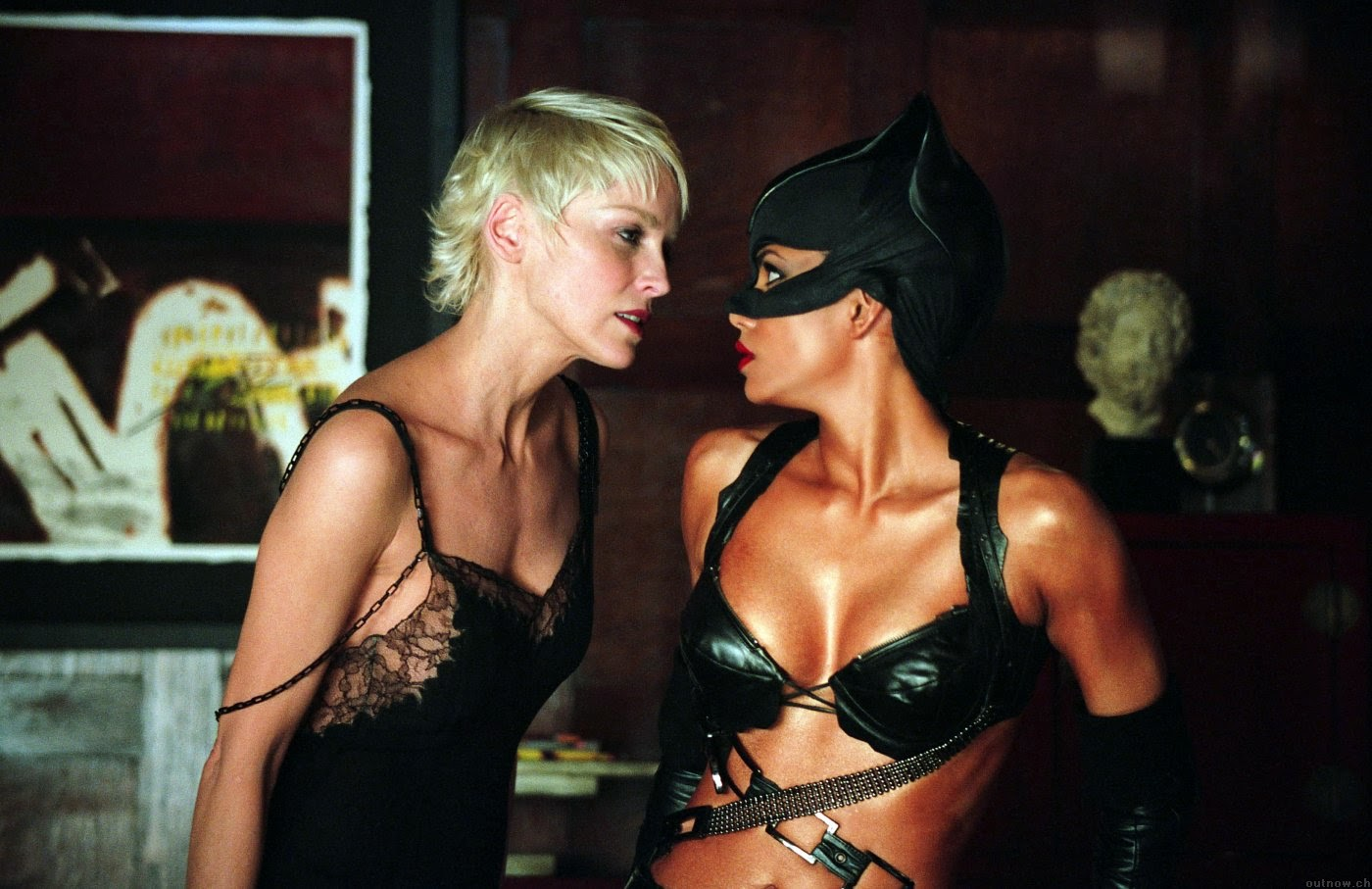 Halle Berry and Sharon Stone in Catwoman (2004)