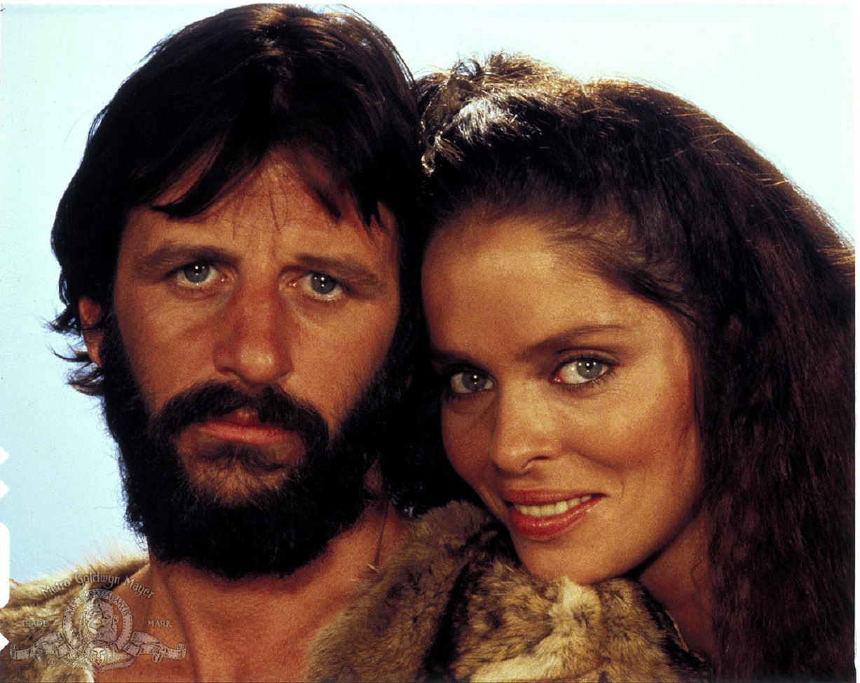 Ringo Starr and Barbara Bach in Caveman (1981)