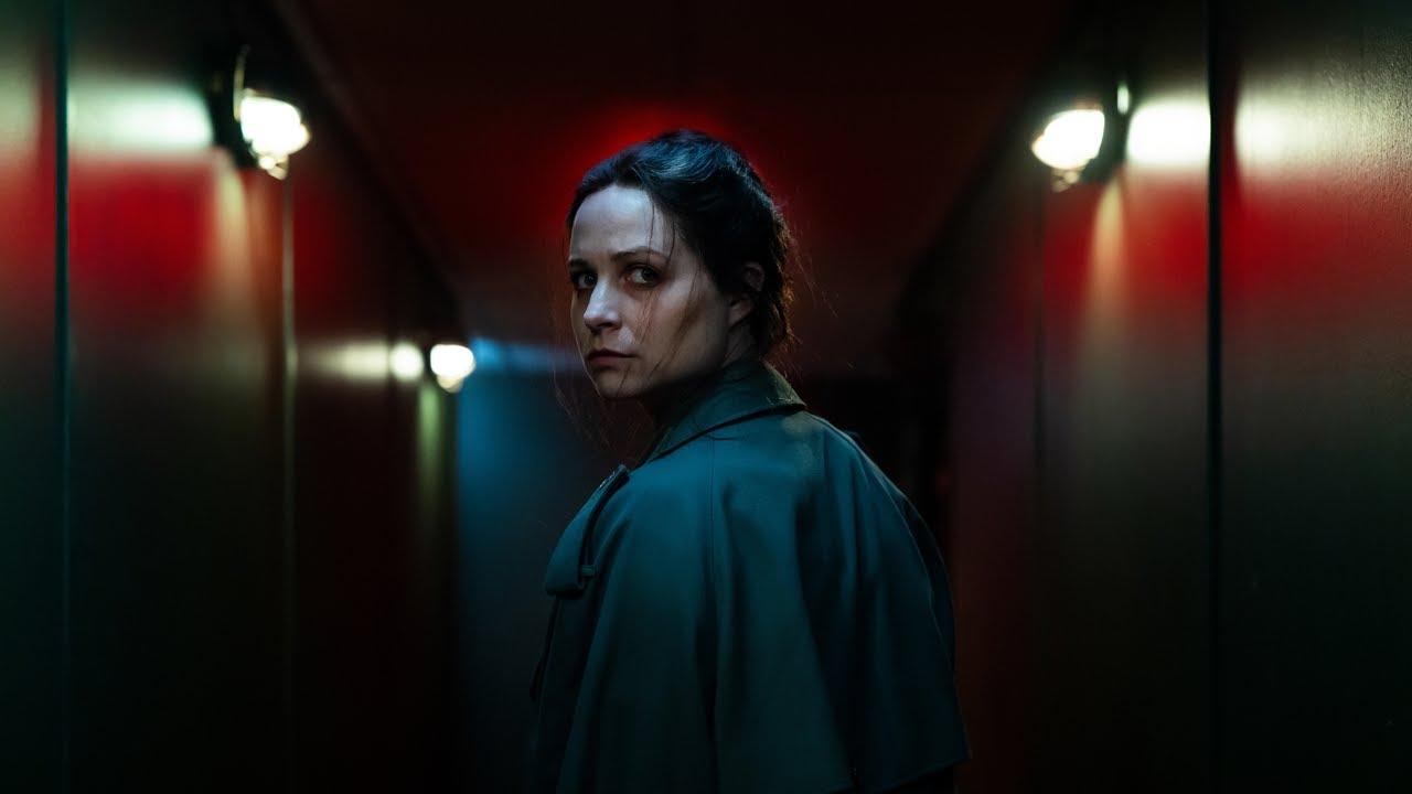 Niamh Algar as Enid Baines in Censor (2021)