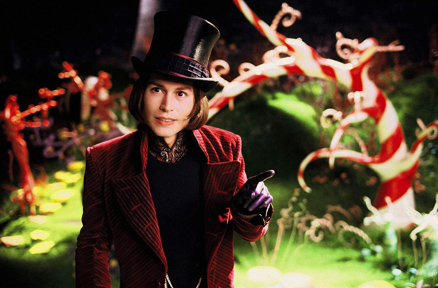 Johnny Depp as Willy Wonka in Charlie and the Chocolate Factory (2005)