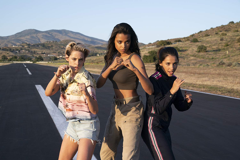 The new Charlie's Angels - Sabina Wilson (Kirsten Stewart), Jane Kano (Ella Balinska) and Elena Houghlin (Naomi Scott) in Charlies Angels (2019)