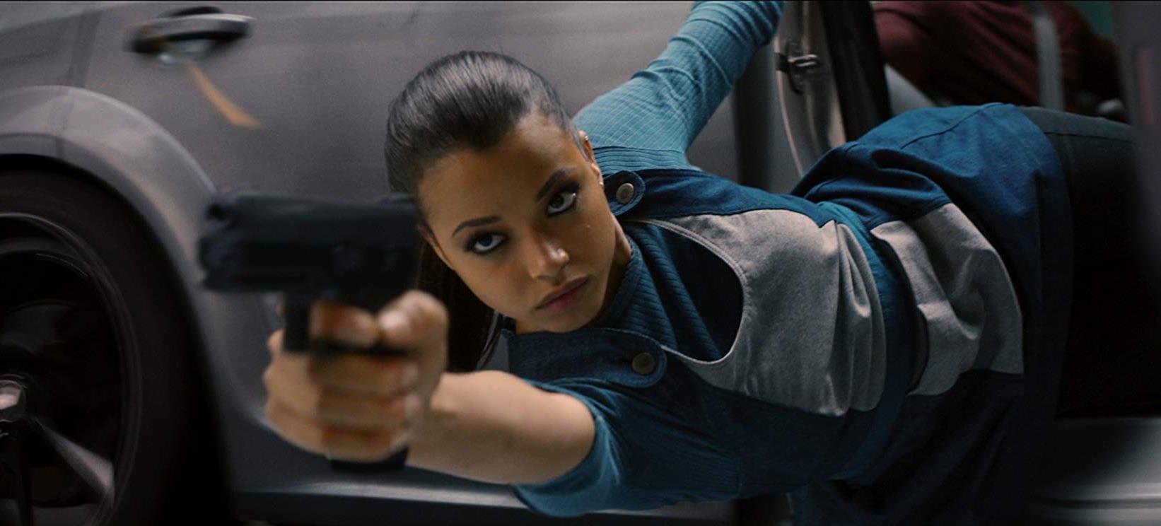 A kick-ass Ella Balinska in action in Charlies Angels (2019)