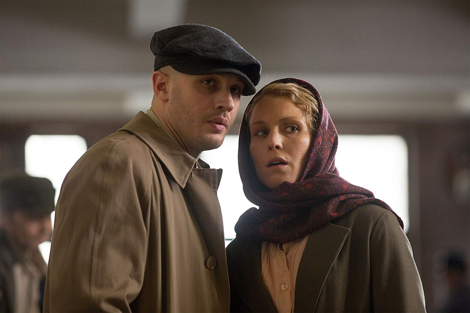 Tom Hardy and wife Noomi Rapace in Child 44 (2015)