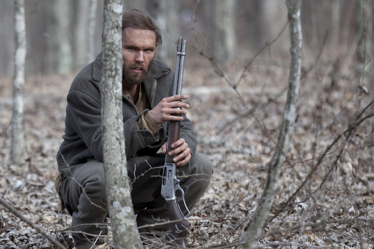Lester (Scott Haze), a marginalised figure living in the wild in Child of God (2013)