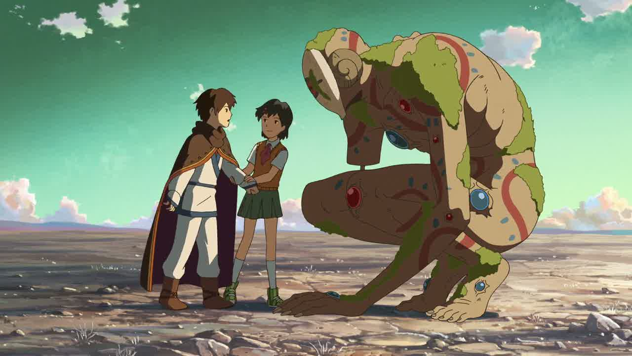 Shin, Asuna Watase and one of the Izouka in Children Who Chase Lost Voices from the Deep (2011)