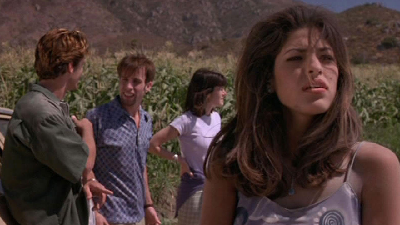 Greg Vaughan, Alexis Arquette, Stacy Galina and Eva Mendes in Children of the Corn V: Fields of Terror (1998)