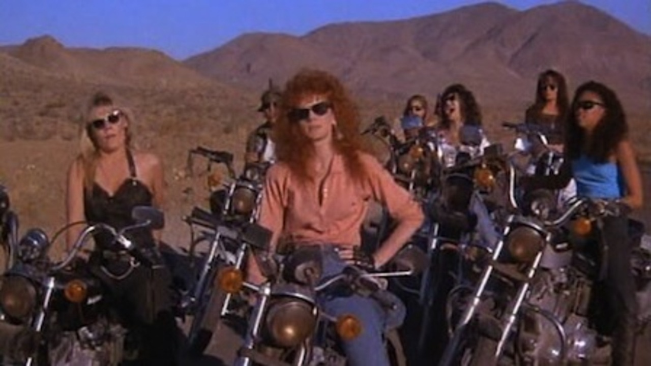 The Cycle Sluts with Catherine Carlen and Jamie Rose in Chopper Chicks in Zombietown (1991)