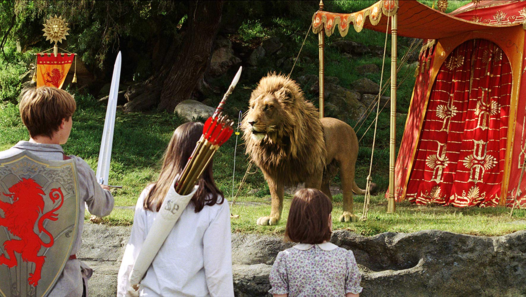 Aslan appears before the children in The Chronicles of Narnia: The Lion, The Witch and the Wardrobe (2005)