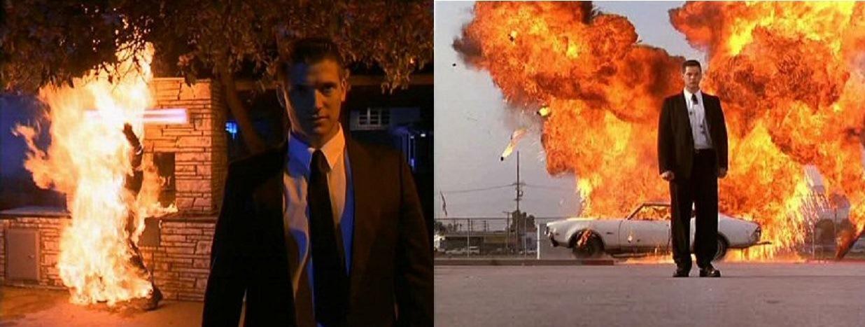 Sasha Mitchell as killer android schoolteacher John Bolen in Class of 1999 II The Substitute (1994)