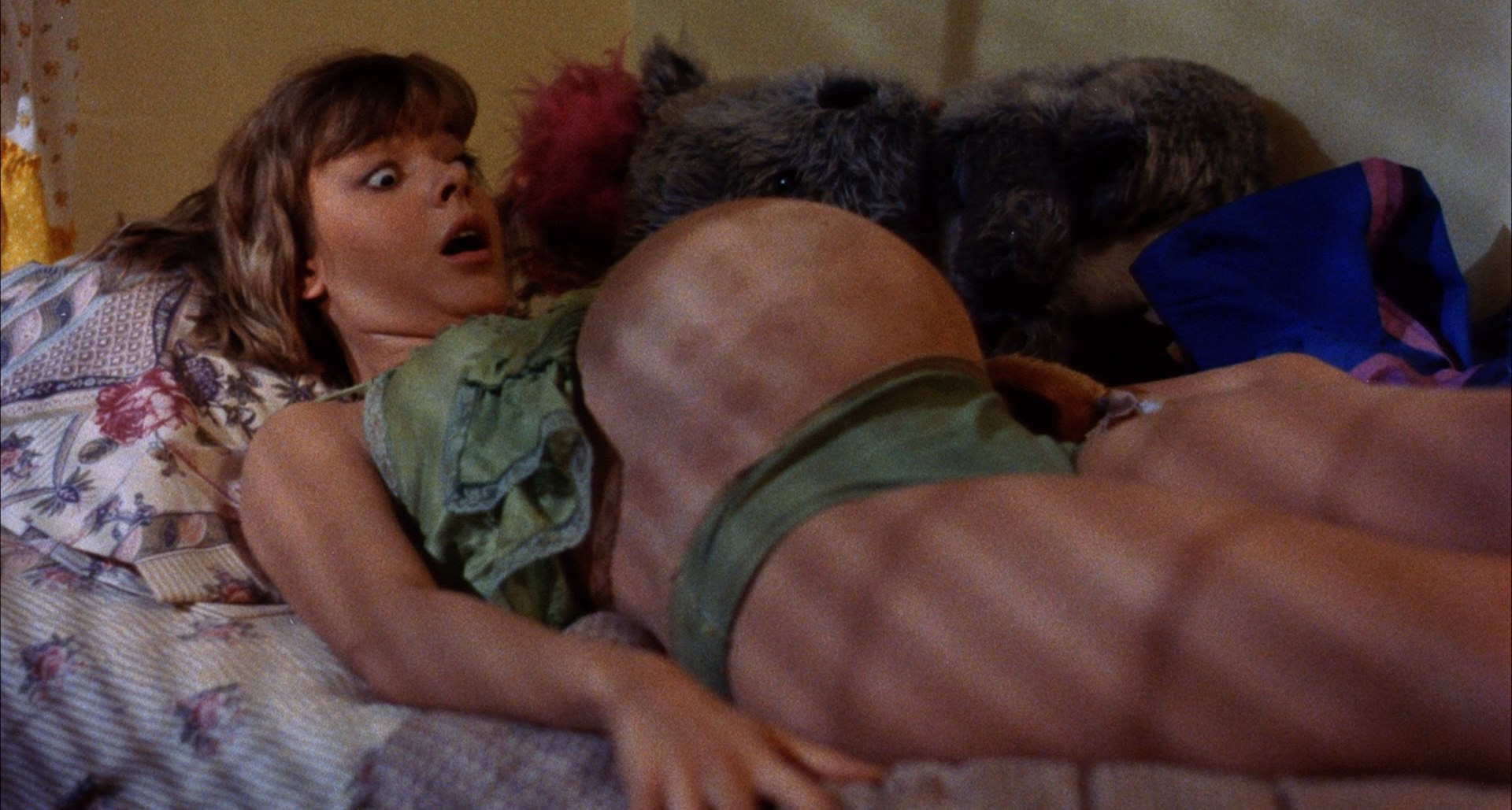Janelle Brady gets pregnant with a mutation in Class of Nuke 'Em High (1986)