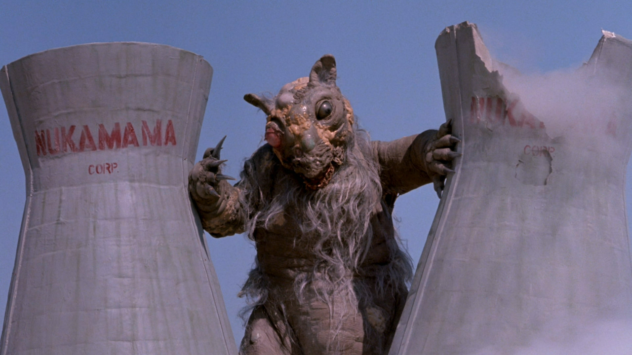 Tromie the giant squirrel in Class of Nuke 'Em High Part II: Subhumanoid Meltdown (1991)