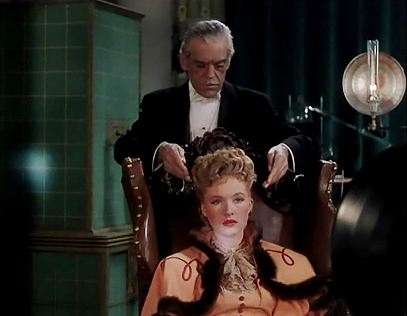 Boris Karloff and Susanna Foster in The Climax (1944)