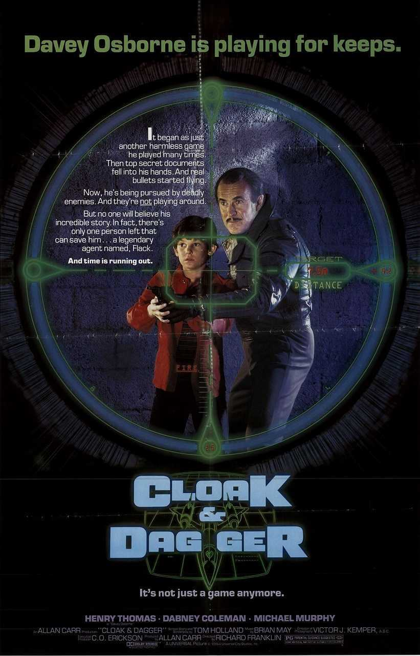 Cloak and Dagger (1984) poster