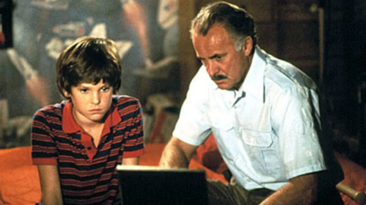 Henry Thomas and Dabney Coleman as his father in Cloak and Dagger (1984)