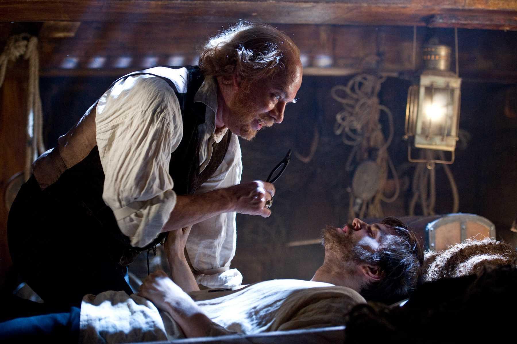 Dr Henry Goose (Tom Hanks) and Adam Ewing (Jim Sturgess) in Cloud Atlas (2012)