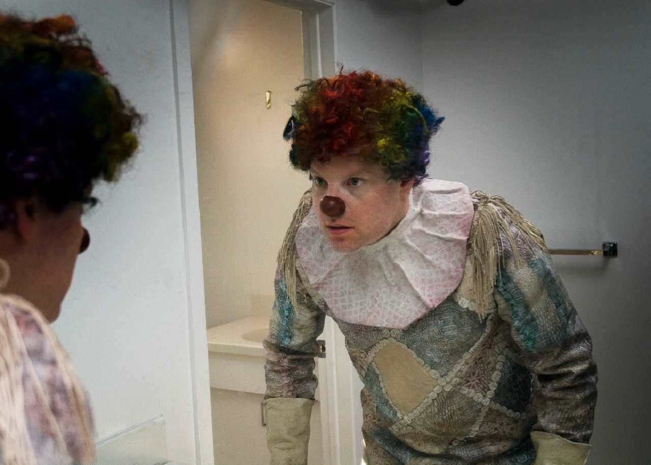 Andy Powers possessed by a clown suit in Clown (2014)