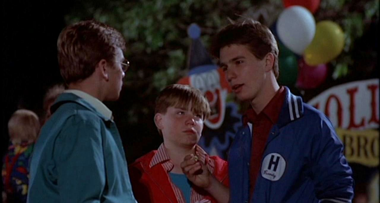 Three brothers - Brian McHugh, Nathan Forrest Winters and a young Sam Rockwell - go to the circus in Clownhouse (1989)