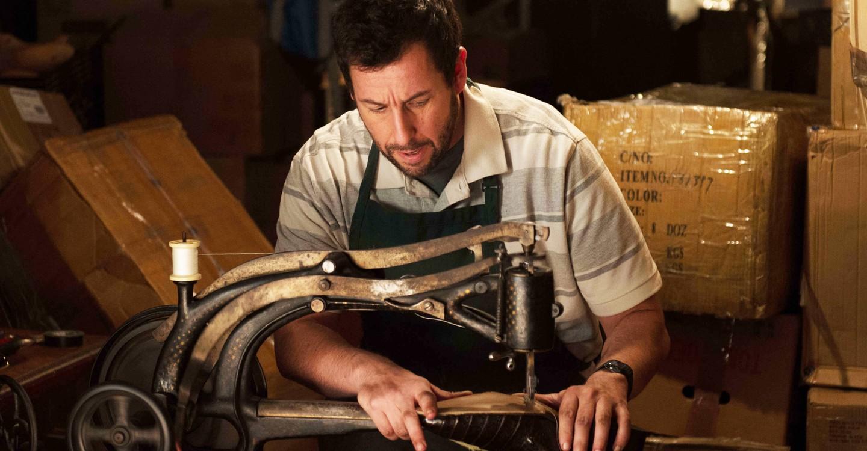 Max Simkin (Adam Sandler) at work as The Cobbler (2014)