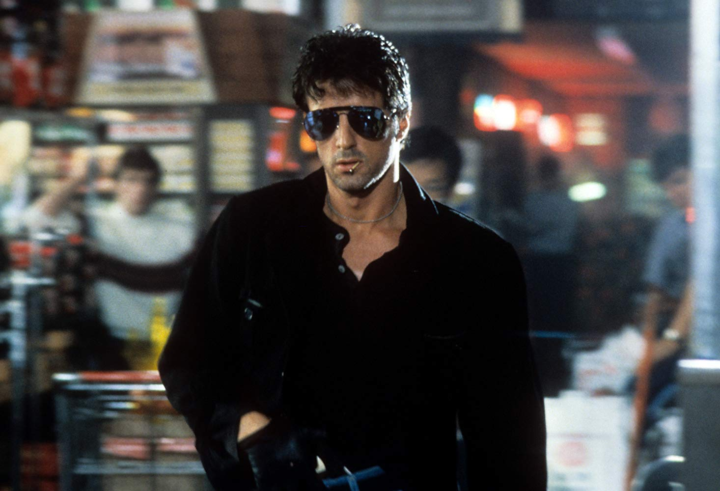 Sylvester Stallone as Lieutenant Marion Cobretti in Cobra (1986)