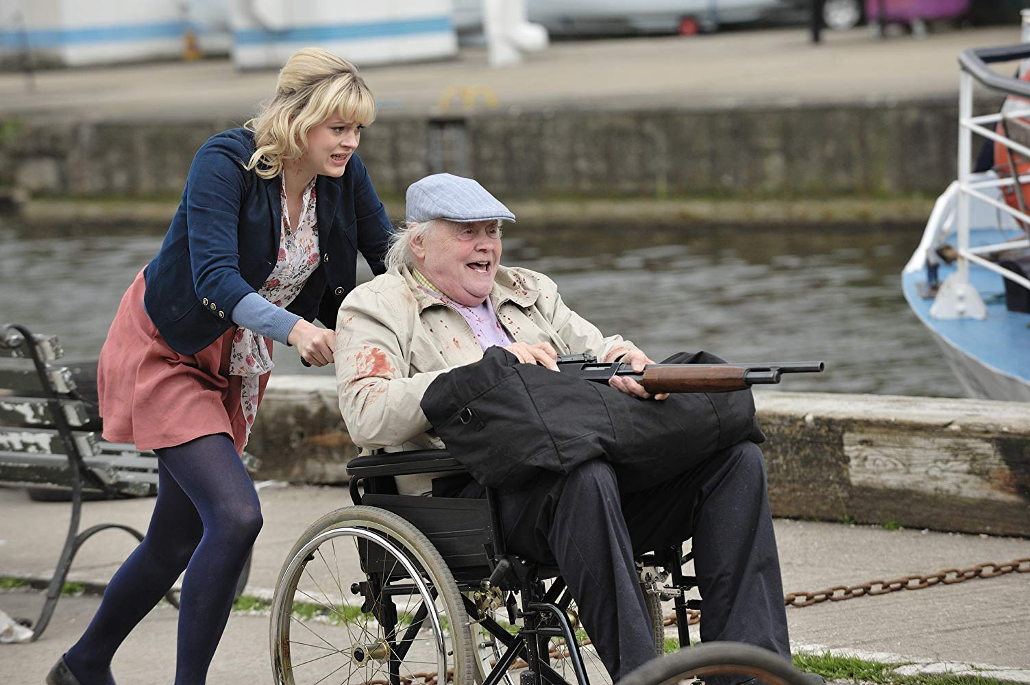 Dudley Sutton and Georgia King in Cockneys vs Zombies (2012)