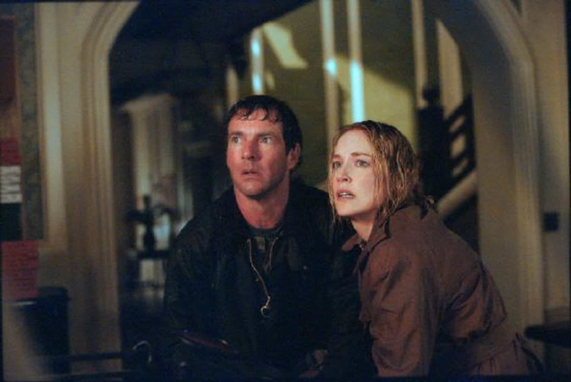 Husband and wife Dennis Quaid and Sharon Stone in Cold Creek Manor (2003)