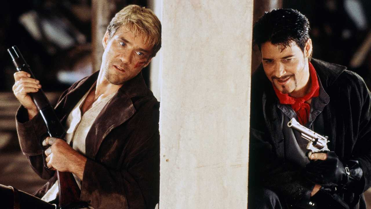 Roland Chaney (Gary Daniels) and Little Ray (Bryan Genesse) in Cold Harvest (1998)